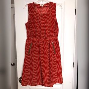 Sleeveless Dress with Zippered Pockets